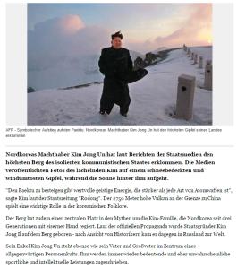 Kim Jong Un besteigt Nordkoreas höchsten Berg   Yahoo Nachrichten Deutschland